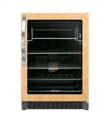 """24"""" Undercounter/Freestanding Custom Panel Beverage Center - DFUR (Left Hinge Clear Door, Black interior)"""