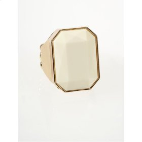BTQ White Faceted Ring
