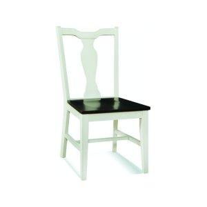 JOHN THOMAS FURNITURESplatback Chair in Black Pearl/Shell