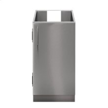 """OUTDOOR KITCHEN CABINETS IN STAINLESS STEEL  PURE 18"""" Sink Base Cabinet 1 Door Right Hinges"""