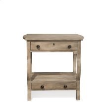 Juniper Two Drawer Nightstand Natural finish