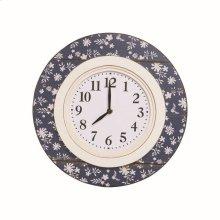 Indigo Floral Clock