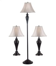 Kylie - 3-Pack - 2 Table Lamps, 1 Floor Lamp Product Image