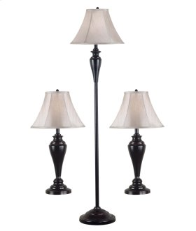 Kylie - 3-Pack - 2 Table Lamps, 1 Floor Lamp