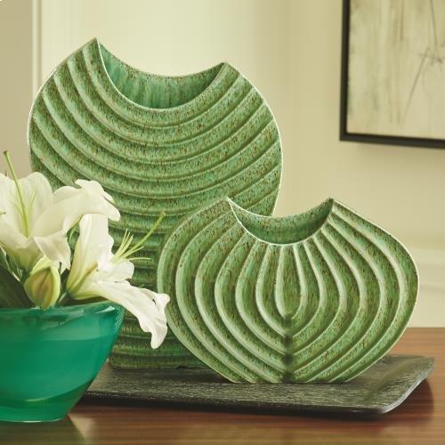 Ripple Vase-Verdi-Sm