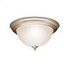 2 Light Flush Mount Ceiling Light NI