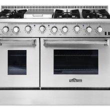 "Hrg4808u 48"" 6 Burner Stainless Steel Professional Gas Range"