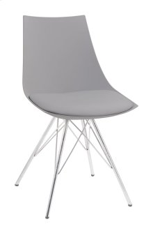 Audrey - Dining Chair Gray Pu Seat-chrome Base