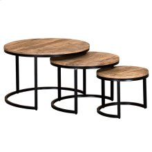 Darsh 3pk Coffee Table set in Washed Grey
