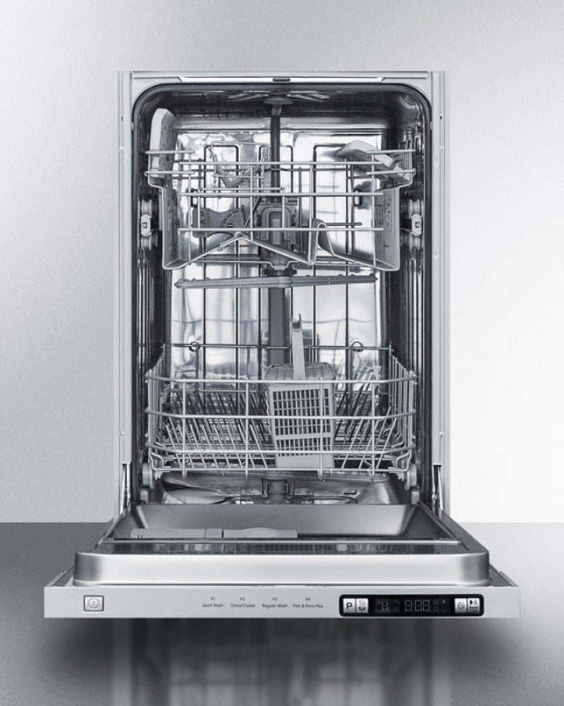 18 Wide Energy Star Qualified Dishwasher With Unfinished Door For Custom Panels