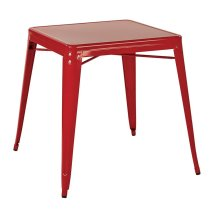 Paterson Metal Table In Red Finish