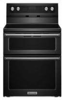 30-Inch 5 Burner Electric Double Oven Convection Range - Black Product Image