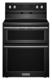 30-Inch 5 Burner Electric Double Oven Convection Range - Black