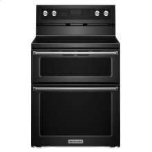 30-Inch 5 Burner Electric Double Oven Convection Range - Black