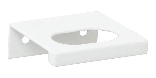 Modern Square Edge Tab Pull 1 1/4 Inch (c-c) - High White Gloss