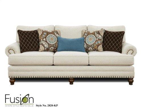 Fusion 2820KP Anna White Linen Sofa