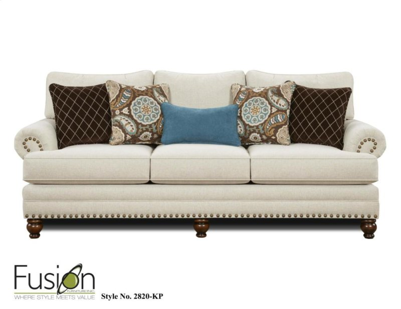 Trend White Linen sofa
