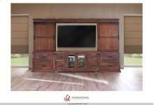 59 TV-Stand w/4 Drawer, 2 Doors + Bridge