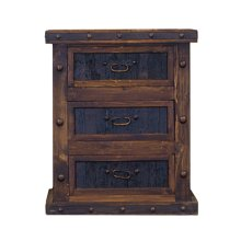 Finca Nightstand with Reclaimed Wood Drawers