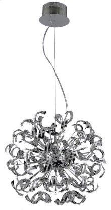 2068 Tiffany Collection Hanging Fixture Chrome Finish (Elegant Cut Crystals)