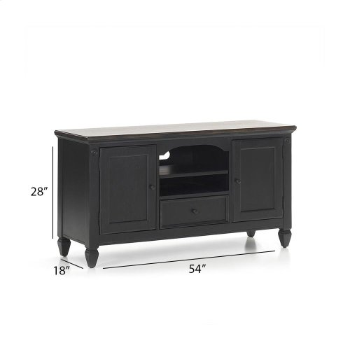 "Living Room - Glennwood 54"" TV Console  Black & Charcoal"