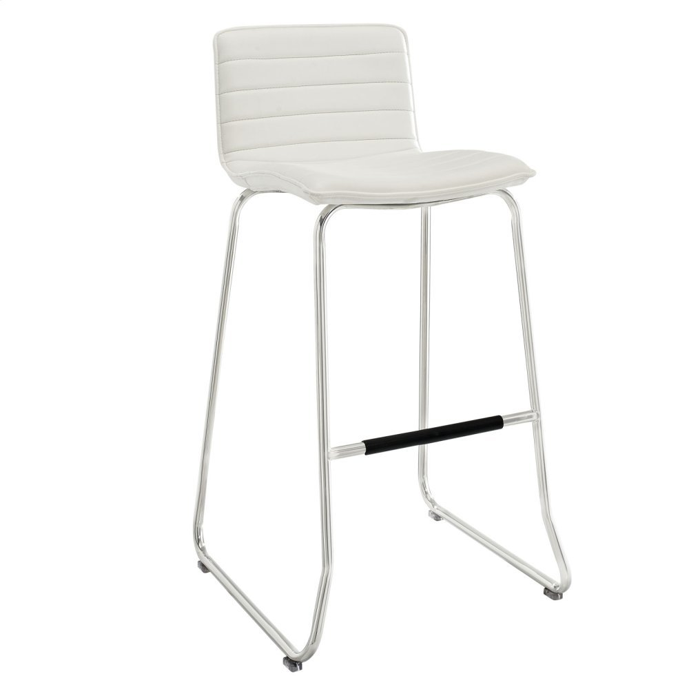 Dive Bar Stool in White