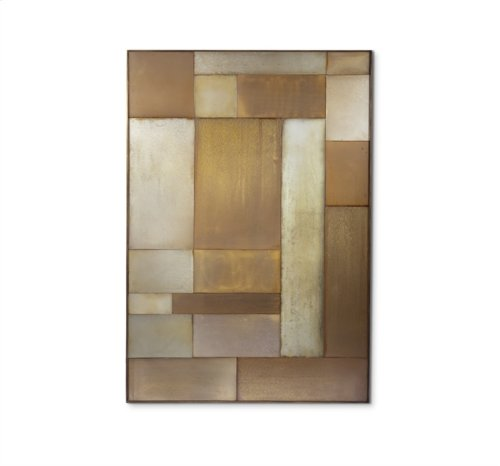 Maci Patchwork Mirror - Gold