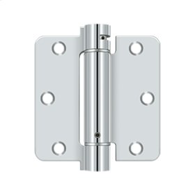 "3 1/2""x 3 1/2""x 1/4"" Spring Hinge - Polished Chrome"