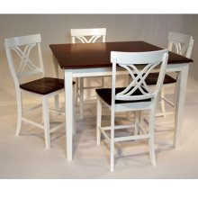 Bidford White and Cherry Counter 5 Pc Group