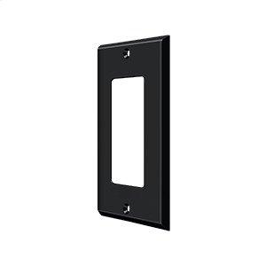 Switch Plate, Single Rocker - Paint Black