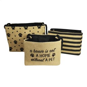 """A House is Not a Home Without a Pet"" Nested Bins set/3."