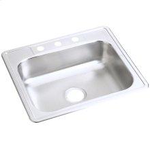 "Dayton Stainless Steel 25"" x 22"" x 6-9/16"", Single Bowl Drop-in Sink"