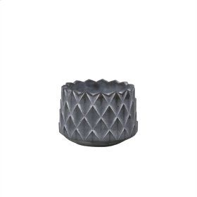 """Scaled Gray Cement Planter 4.25"""""""