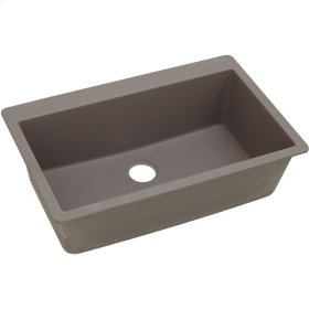 "Elkay Quartz Classic 33"" x 20-7/8"" x 9-7/16"", Single Bowl Top Mount Sink, Greige"