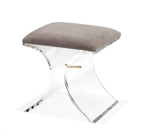 Serena Stool - Grey Velvet