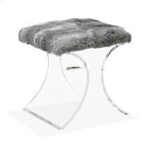 Serena Stool - Rabbit Fur