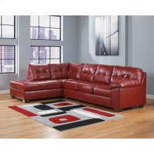 Signature Design by Ashley Alliston with Left Side Facing Chaise Sectional in Salsa DuraBlend [FSD-2399SEC-RED-GG]