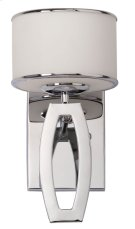 Lenora Drum Sconce - Chrome Shade Color: White Product Image