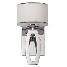 Lenora Drum Sconce - Chrome