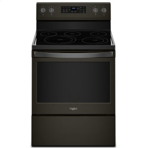 5.3 cu. ft. Freestanding Electric Range with Fan Convection Cooking - FINGERPRINT RESISTANT BLACK STAINLESS