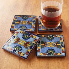 Asters Tile Coasters