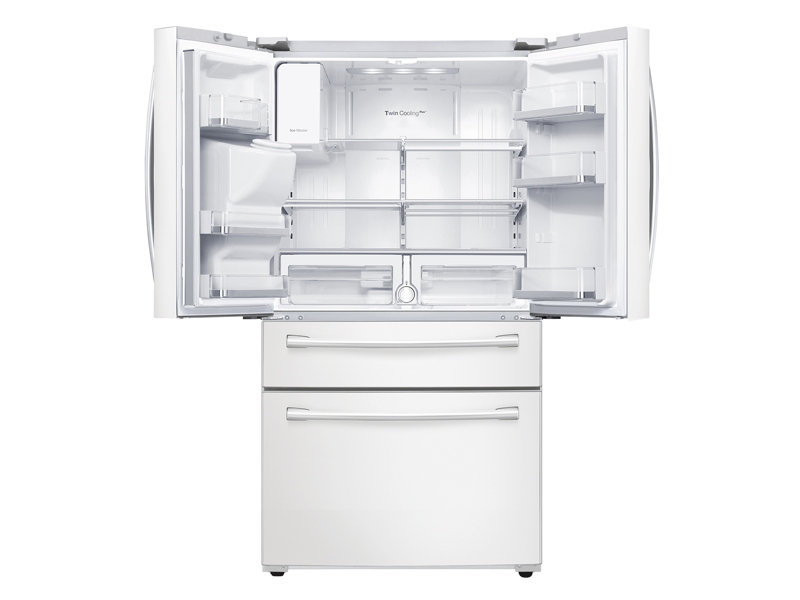 Rf28hmedbwwsamsung 28 Cu Ft 4 Door French Door Refrigerator White