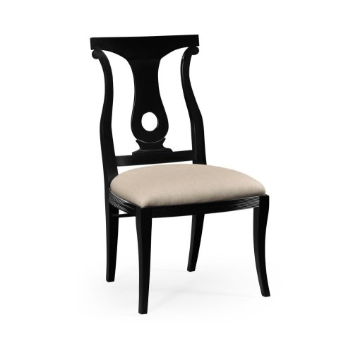 Black Lock Dining Side Chair