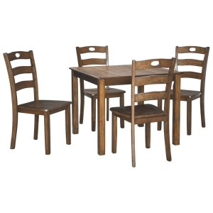 Ashley FurnitureSIGNATURE DESIGN BY ASHLEYSquare DRM Table Set (5/CN)