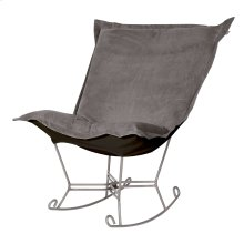 Scroll Puff Rocker Bella Pewter Titanium Frame