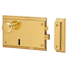 Lifetime Polished Brass 5636 Bevelled Rim Lock