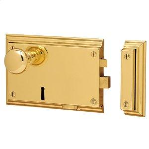 Lifetime Polished Brass 5636 Bevelled Rim Lock Product Image