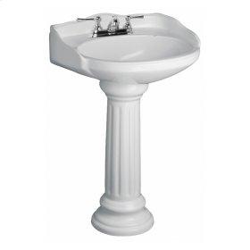 Victoria Pedestal Lavatory - Bisque