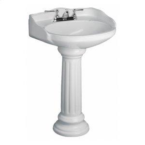 Victoria Pedestal Lavatory - White Product Image