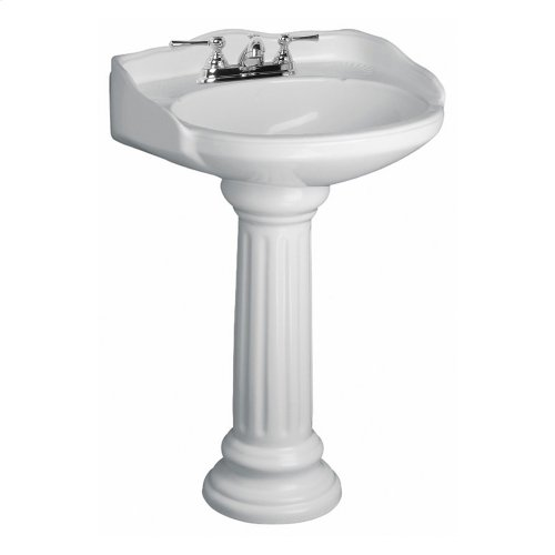 Victoria Pedestal Lavatory - White